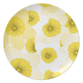 Floral Decor Party Plate