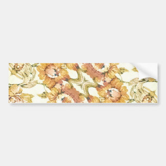 Floral Decorative Bumper Sticker