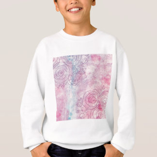 Floral Decorative illustration of leaves and flowe Sweatshirt