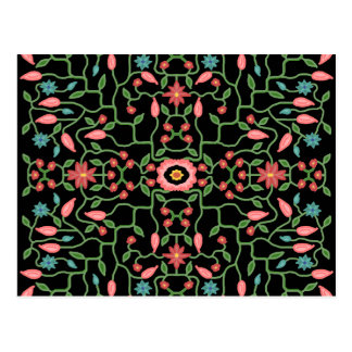 Floral Decorative Pattern Postcard