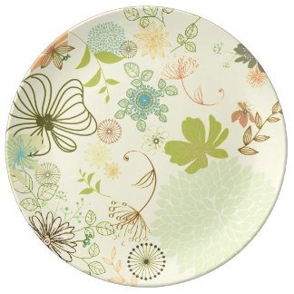 Floral Decorative Plate Porcelain Plates