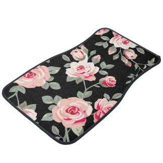 Floral Design Car Mats Set