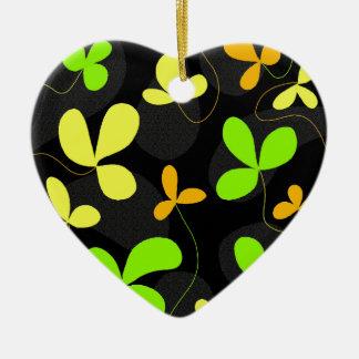 Floral design ceramic heart decoration