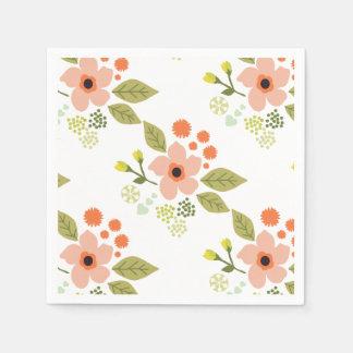 Floral design cocktail napkin paper napkin