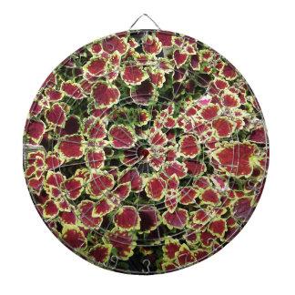 Floral design dartboard with darts
