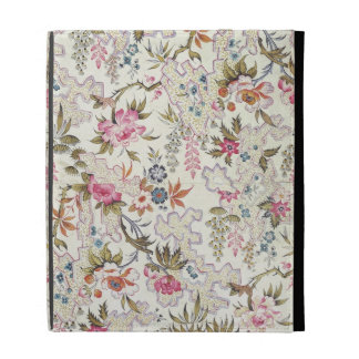 Floral design for silk material with stylized flow iPad folio case