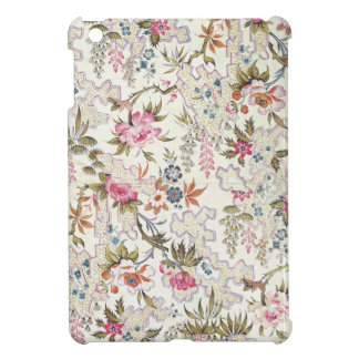 Floral design for silk material with stylized flow iPad mini case