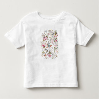 Floral design for silk material with stylized flow toddler T-Shirt