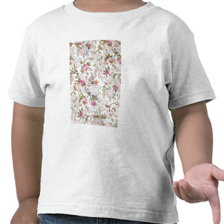 Floral design for silk material with stylized flow tshirt