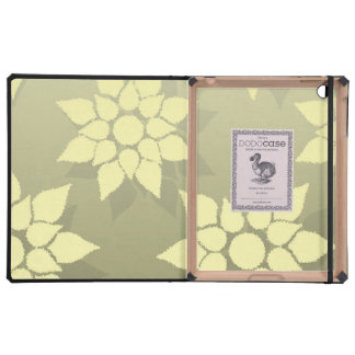 Floral Design in Shades of Yellow and Gold iPad Cover