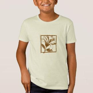 Floral Design Kids Organic Shirt