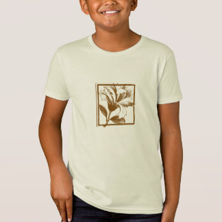 Floral Design Kids Organic T-Shirt