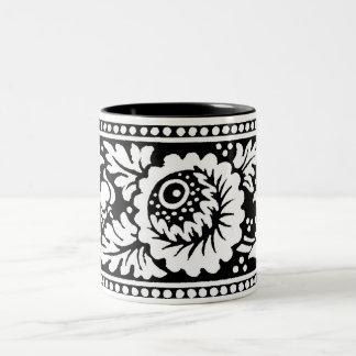 Floral Design Mug 2 in Black & White