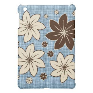 Floral design on blue iPad mini covers