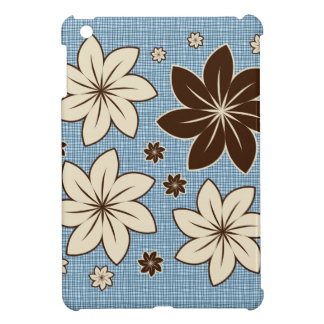Floral design on blue iPad mini cases