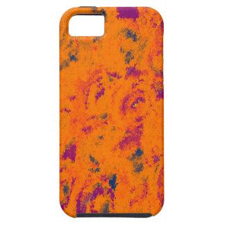floral Design orange iPhone 5 Cases