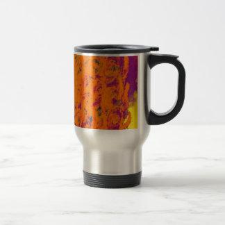 floral Design orange Mug