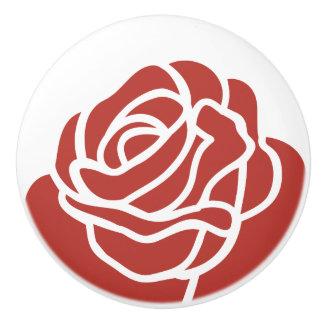 Floral Design - Red Rose - Drawer Knob