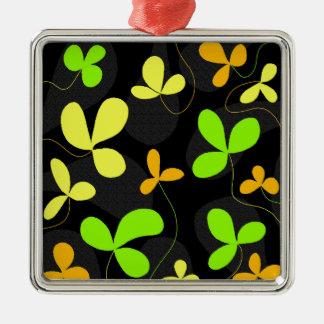 Floral design Silver-Colored square decoration