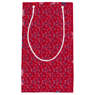 Floral design small gift bag
