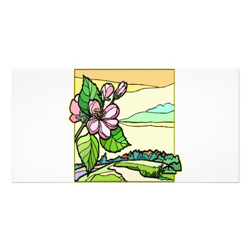 Floral Design Stained Glass #0033 Photo Cards