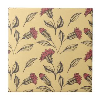 Floral design tile