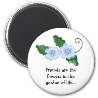 Floral Design with Friendship Message Magnet