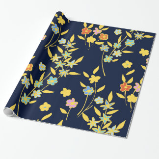 Floral design wrapping paper