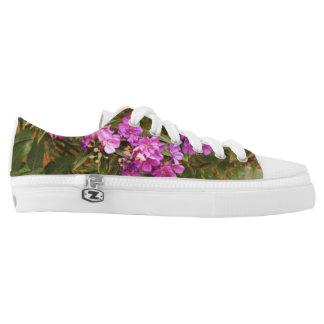 Floral design Zipz Low Top Shoes