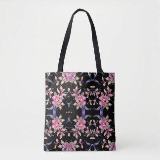 floral designed tote bag