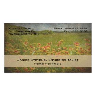 Floral Designer Enviromentalist Decorator Basic Business Cards