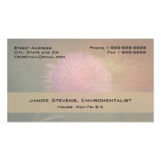 Floral Designer Enviromentalist Decorator Basic Business Card