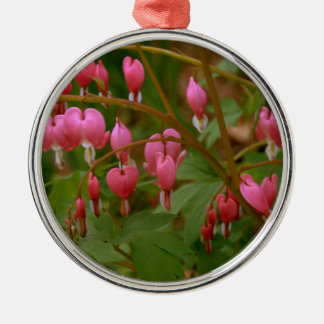 Floral Display Silver-Colored Round Decoration
