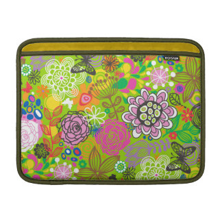 Floral Doodle Pattern MacBook Air Sleeves