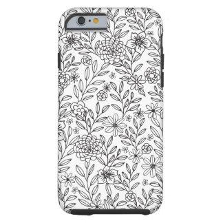 Floral Doodles Coloring Tough iPhone 6 Case