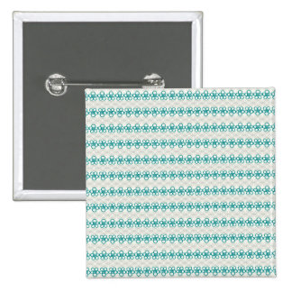 Floral Doodles in Turquoise and Gray Pattern Pin