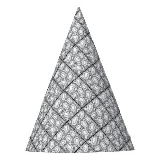 Floral Dotty Line Art Design Party Hat