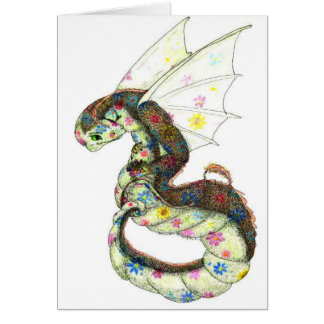 floral Dragon Card