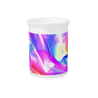 Floral Drama Abstract Pitcher