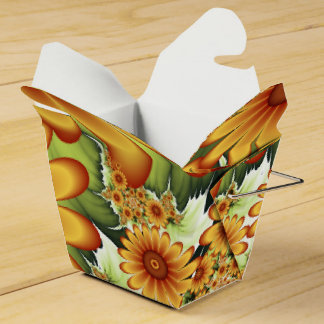 Floral Dream, Modern Abstract Flower Fractal Art Favour Box