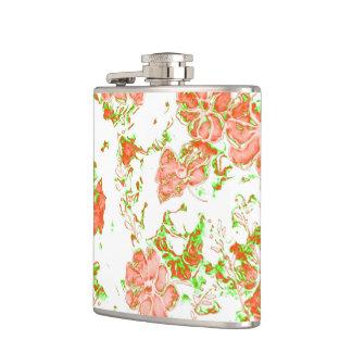 floral dreams 12 D Hip Flask