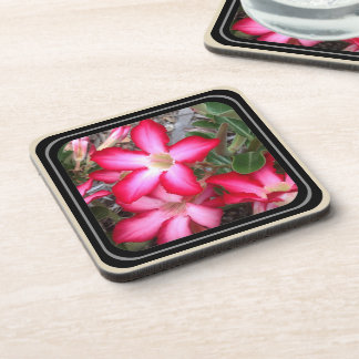 Floral drink coaster set