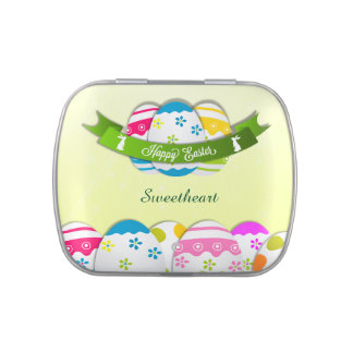 Floral Easter Eggs and Easter Wish Candy Tin