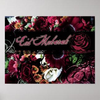 Floral Eid Mubarak Poster