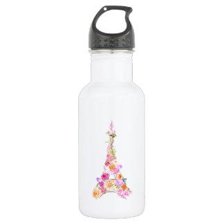 Floral eiffel tower 532 ml water bottle
