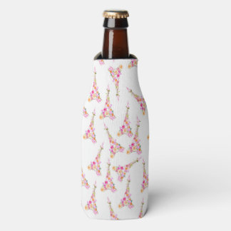 Floral eiffel tower bottle cooler