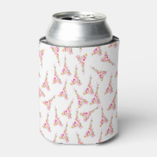 Floral eiffel tower can cooler