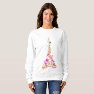 Floral eiffel tower sweatshirt