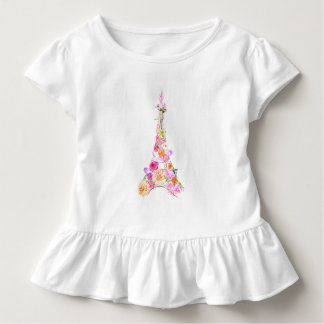 Floral eiffel tower toddler T-Shirt
