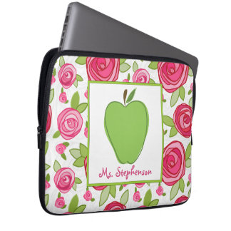 Floral Electronics Bag For Teachers Laptop Computer Sleeves
